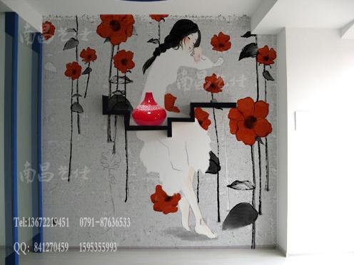 现在家装用手绘墙画的还不